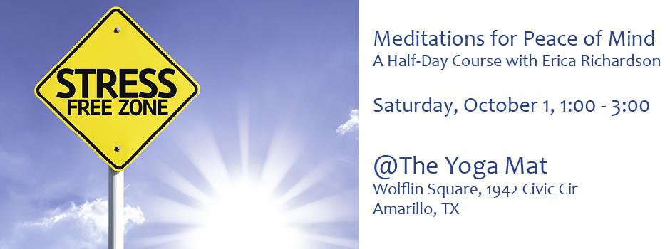 Meditations for Peace of Mind @ Yoga Mat (Amarillo) | Amarillo | Texas | United States